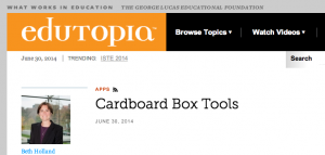 Edutopia Cardboard box