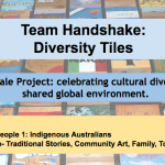 Handshake Activity: global whale project celebrating cultural diversity.