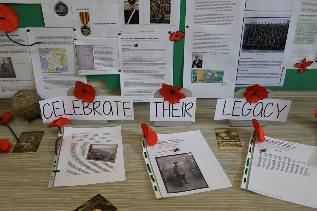 ANZAC Project Celebrating Their Legacy
