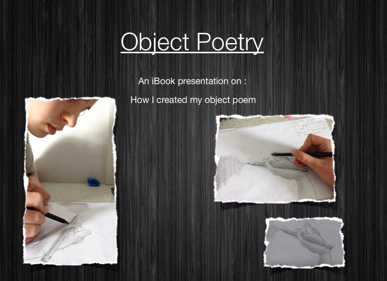 Object Poetry iBook using Creative Fluency