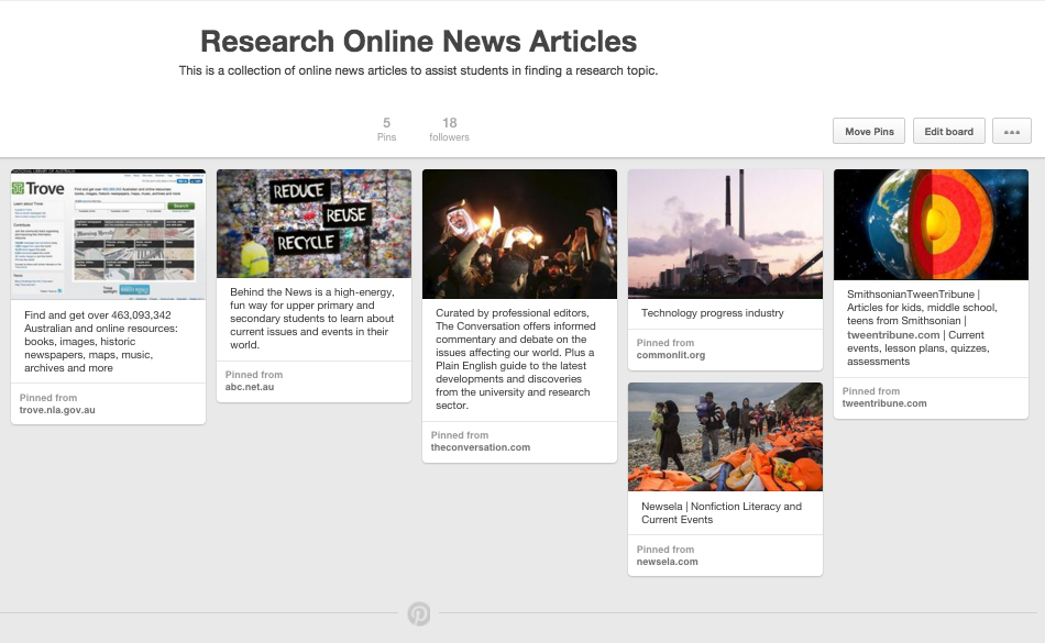 Pinterest Online News Articles