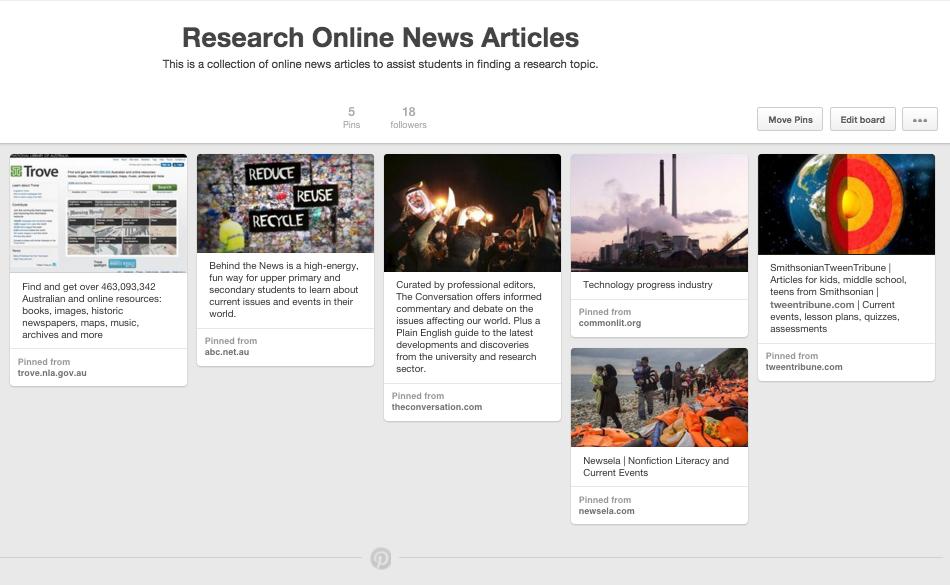 Pinterest Online News Articles
