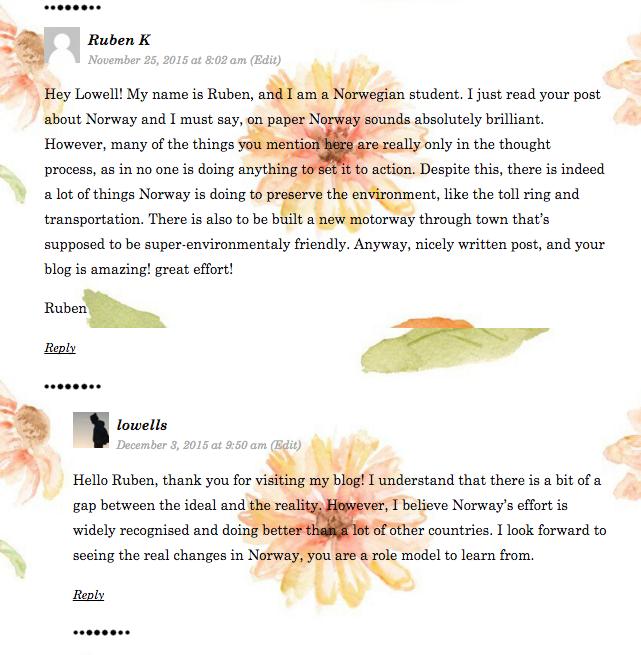 Student Blogs: Quality Comments