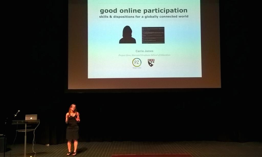 Project Zero Sydney. Carrie James Good Online Participation