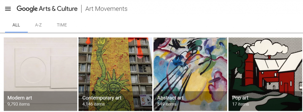 Art Movements at Google