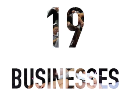 19 Businesses, 100 girls, 4 days