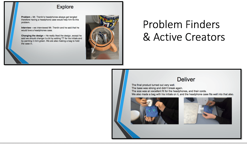 Students as problem solvers and active creators